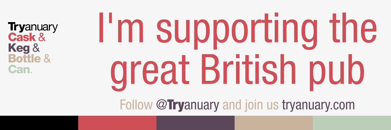 Tryanuary banner - Supporting the great British Pub
