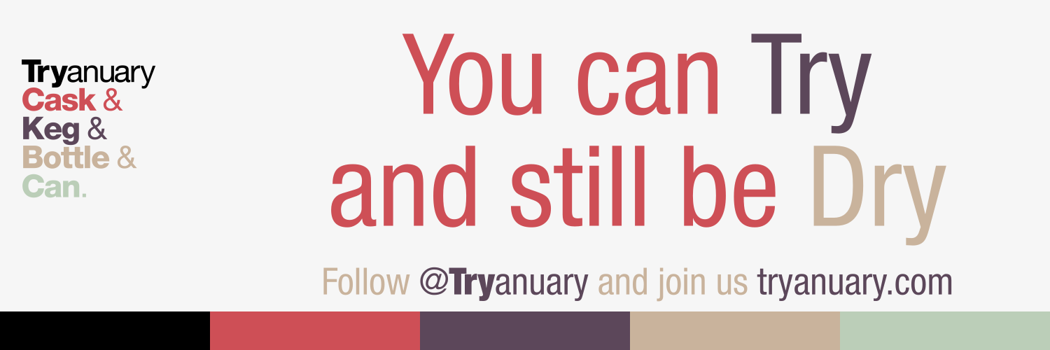 Tryanuary banner - You can Try and still be Dry